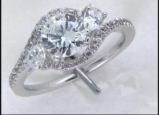 Lady's 14k White Gold Engagement Ring Mounting