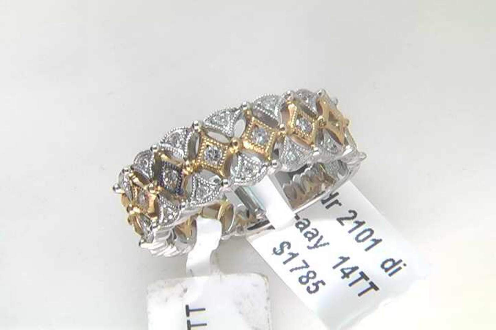 Lady's 14k White And Yellow Gold Diamond Ring