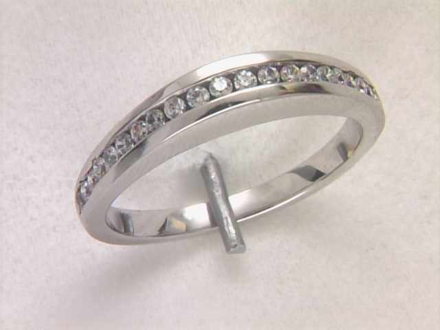 14k White Gold Lady's Diamond Wedding Ring