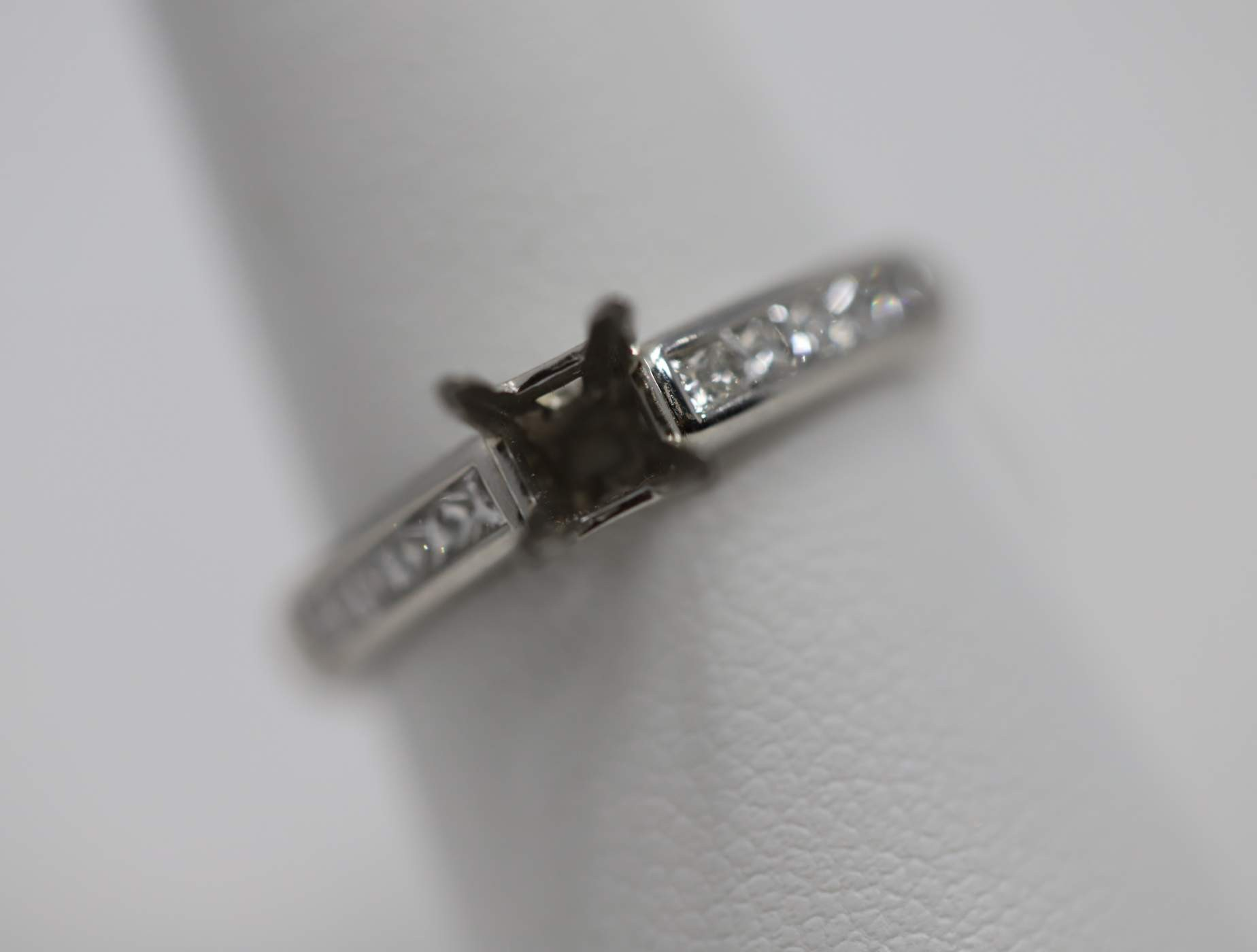 Lady's Platinum (Currently No Major Stone Set In Mtg) Engagement Ring