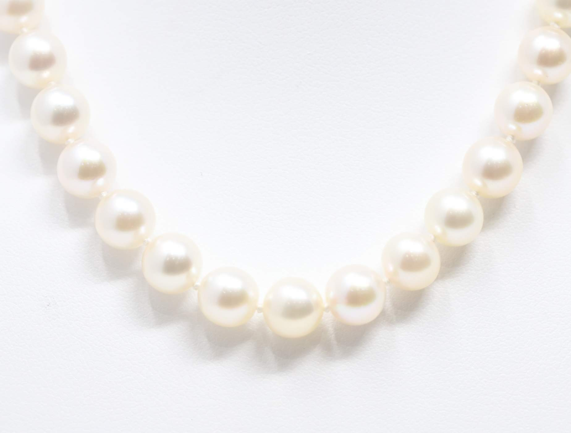 Ladies 14k White Gold Pearl Necklace