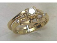 18k Yellow Gold Lady's Diamond Wedding Set