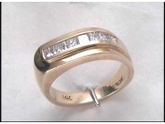 14k Yellow Gold Gentleman's Diamond Ring
