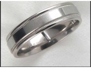 Gentleman's 14k White Gold Wedding Ring