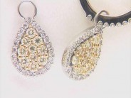 14k White Gold Lady's Diamond Earrings