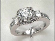 14k White Gold Lady's Diamond Mounting