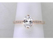 Ladies 14k Rose Gold Currently Has No Major Stone) Engagement Ring Mounting