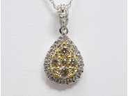 Ladies 14k White And Yellow Gold Diamond Necklace