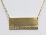 Ladies 14k Yellow Gold Diamond Necklace