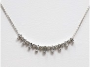 Ladies 14k White Gold Diamond Necklace