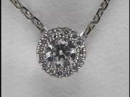 14k White Gold Lady's Diamond Pendant