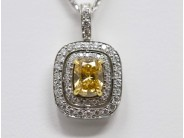 Lady's 18k White Gold Diamond Pendant