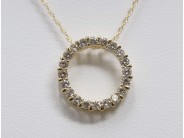 Ladies 14k Yellow Gold Diamond Pendant