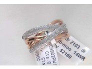 Lady's 14k White And Rose Gold Diamond Ring