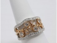 Ladies 14k White And Rose Gold Diamond Ring