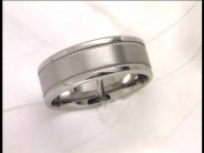 19 Karat White Gold Fancy Wedding Band