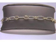 14k White And Yellow Gold Bracelet
