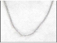 """14k White Gold 16"""" Cable Chain"""