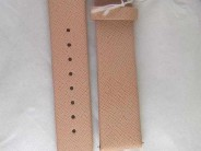 Michele Watch Strap, Peach Color, size 18mm