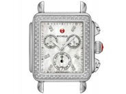 Stainless Michele DECO Diamond Watch