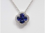 Lady's 14k White Gold Sapphire Necklace