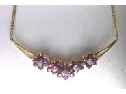 Ladies 14k Yellow Gold Ruby Necklace