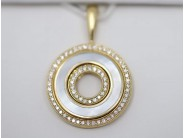Ladies 14k Yellow Gold Mother Of Pearl Pendant