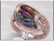 Lady's 18k Rose Gold Multi-Stone Ring