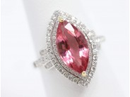 18k White Gold Pink Tourmaline Ring