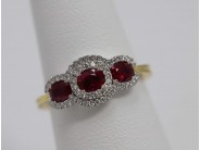 Ladies 18k Yellow And White Gold Ruby Ring