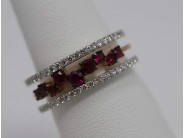Ladies 18k White And Rose Gold Ruby Ring