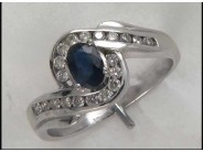 Lady's 14k White Gold Sapphire Ring