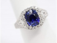 Lady's 18k White Gold Sapphire Ring