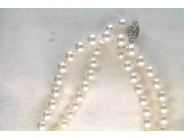Lady's 14k White Gold Pearl Necklace