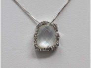Ladies Sterling Mother Of Pearl Necklace