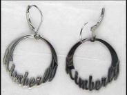 round Name Earrings