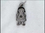 Sterling Girl in Dress with Flower charm